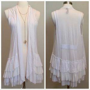 Anthropologie NWOT South Africa Tiered Ruffle Vest